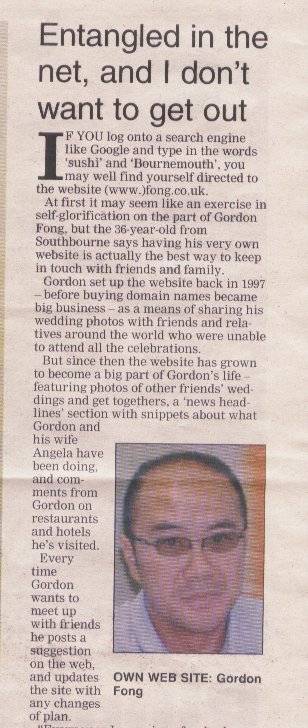 Gordon Fong in the Bournemouth Echo