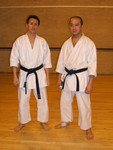 Gordon Fong and Ken Hassell. Karate.